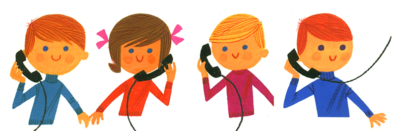 Children phoning