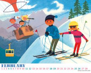 Alain Gree desktop calendar FEB