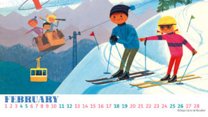 アラングレ デスクトップカレンダー2月